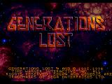 Generations Lost Genesis Title screen