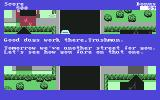 Trashman Commodore 64 Mission accomplished. One street less to go.