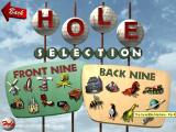 3-D Ultra Minigolf Windows Hole selection screen -- octopi, outer space and dinosaurs, oh my!