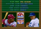 Tony La Russa Baseball '95 Genesis Main menu