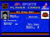 NHL '94 Genesis Player information