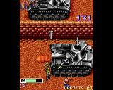 Mercs Amiga The huge tank shoots at you