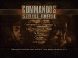 Commandos: Strike Force Windows Main menu