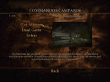 Commandos: Strike Force Windows Campaign menu