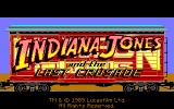 Indiana Jones and The Last Crusade: The Graphic Adventure Amiga Title screen