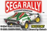 Sega Rally Championship Game Boy Advance Title screen.