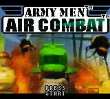 Army Men: Air Combat Game Boy Color Title screen.