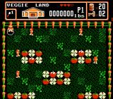 Bible Buffet NES An action scene in Veggie Land
