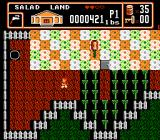 Bible Buffet NES An action scene in Salad Land