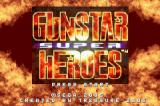 Gunstar Super Heroes Game Boy Advance Title screen.
