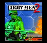 Army Men II Game Boy Color Title screen.