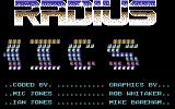 Radius Commodore 64 Title screen