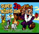 Super Noah's Ark 3-D SNES Title screen