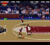 College Slam SNES Attacking and defending