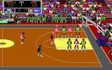Lakers versus Celtics and the NBA Playoffs DOS John Stockton makes the free throw (BTW the real-life Stockton has brown hair).