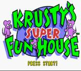Krusty's Fun House SNES Title Screen