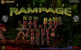 Alien Rampage DOS Menu, with rotating skulls.