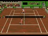 Pete Sampras Tennis 96 Genesis While it might seem the player in the top court will hit the ball, the top spin will betray her