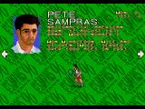 Pete Sampras Tennis 96 Genesis Character description