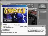 Uninvited Windows 3.x About box with ICOM logo and credits.