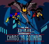 Batman: Chaos in Gotham Game Boy Color Title screen.