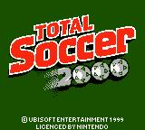 David O'Leary's Total Soccer 2000 Game Boy Color Title screen.