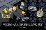 Salt Lake 2002 Game Boy Advance Main menu