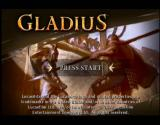 Gladius Xbox The Title screen is were you start