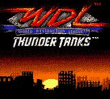 World Destruction League: Thunder Tanks Game Boy Color Title screen.