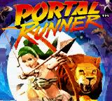 Portal Runner Game Boy Color Title screen.