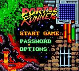 Portal Runner Game Boy Color Main menu.