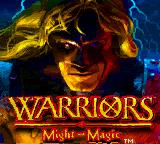 Warriors of Might and Magic Game Boy Color Title screen.