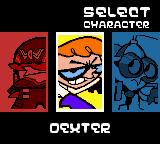 Dexter's Laboratory: Robot Rampage Game Boy Color Player selection.