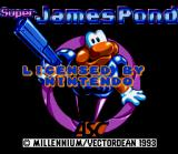 James Pond 2: Codename: RoboCod SNES Title screen (U. S. version)