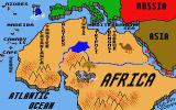 Pirates of the Barbary Coast Atari ST A map of shipping locations
