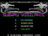Subway Vigilante ZX Spectrum Title screen