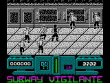 Subway Vigilante ZX Spectrum Monochrome mode