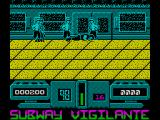 Subway Vigilante ZX Spectrum I'm down in the tube station, possibly at midnight
