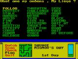 Dark Sceptre ZX Spectrum The orders you can give