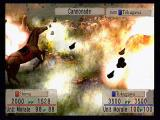 Kessen PlayStation 2 Ouch! Tokugawa's cannon hit home, sending both men and horses scattering.