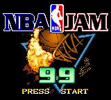 NBA Jam 99 Game Boy Color Title screen.