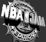 NBA Jam Tournament Edition Game Boy Title screen.