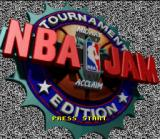 NBA Jam Tournament Edition SNES Title screen.