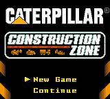 Caterpillar Construction Zone Game Boy Color Title screen / Main menu.