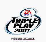 Triple Play 2001 Game Boy Color Title screen.