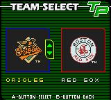 Triple Play 2001 Game Boy Color Team selection.