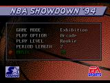 NBA Showdown Genesis Mode selection