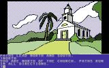 Death in the Caribbean Commodore 64 Front of church