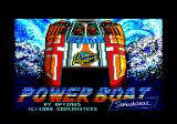 Pro Powerboat Simulator Amstrad CPC Title screen