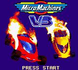 Micro Machines V3 Game Boy Color Title screen.